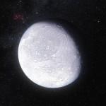 """To je ona! Eris, teleso, ktoré """"zabilo Pluto"""" – vskutočnosti teleso, ktoré po svojom objave rozpútalo debatu ohľadom pojmu planéta, čo orok neskôr viedlo kvyradeniu Pluta spomedzi planét. Kredit: ESO/L. Calçadaand Nick Risinger (skysurvey.org), http://www.eso.org/public/images/eso1142a/"""