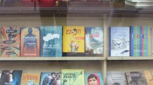Kniha vo výklade kníhkupectva v Bratislave
