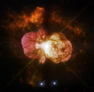 Éta Carinae, jedna z najhmotnejších a najžiarivejších známych hviezd