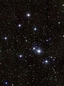 Hviezdy v otvorenej hviezdokope M41