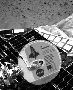 Pamätná plaketa na Marse