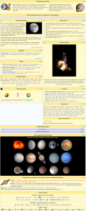 Screenshoty mnou založených portálov, dvoch zo štyroch portálov, ktoré sú dlhodobo v mojej opatere: hore Kozmonautika, dole Slnečná sústava. Zdroje: Kozmonautika a Slnečná sústava