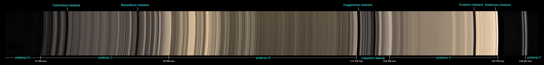 Prstence Saturna v prírodných farbách s vysokým rozlíšením