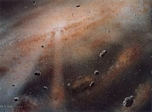 Umelecká predstava detailu protoplanetárneho disku