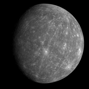 Záber zo sondy MESSENGER z výšky 27 000 km, ktorý sonda urobila po druhom prelete