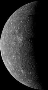 Merkúr na záberoch sondy Mariner 10