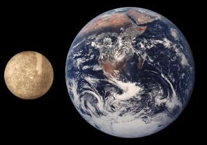 Porovnanie veľkosti Merkúra a Zeme