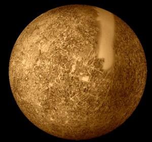 Povrch Merkúra na základe údajov zo sondy Mariner 10