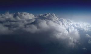 Oblaky stratokumulus zhora