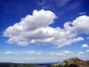 Oblaky kumulus, ktoré sa tvoria za pekného počasia