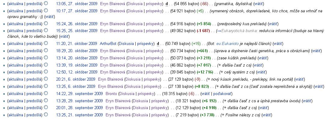 Počas bakalárskeho stupňa VŠ som sa venovala rozsiahlym prekladom biologických článkov z češtiny. Zdroj