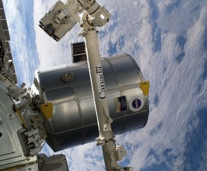 Modul Raffaello po pripojení k ISS