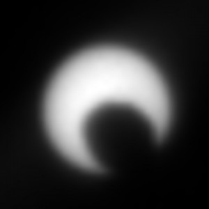 Prechod mesiaca Fobos cez slnečný disk