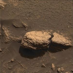 Útvar Stone Mountain v oblasti Meridiani, jeden z prvých cieľov výskumu rovera