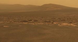 Západný okraj krátera Endeavour