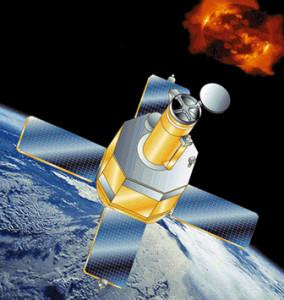 Umelecká predstava observatória TRACE na zemskej orbite