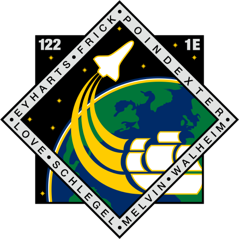 Animation assemblage ISS STS-122_patch