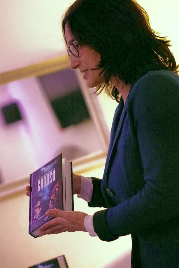 Andrea Harmanová predstavuje môj najnovší román. Foto: Rastislav Weber